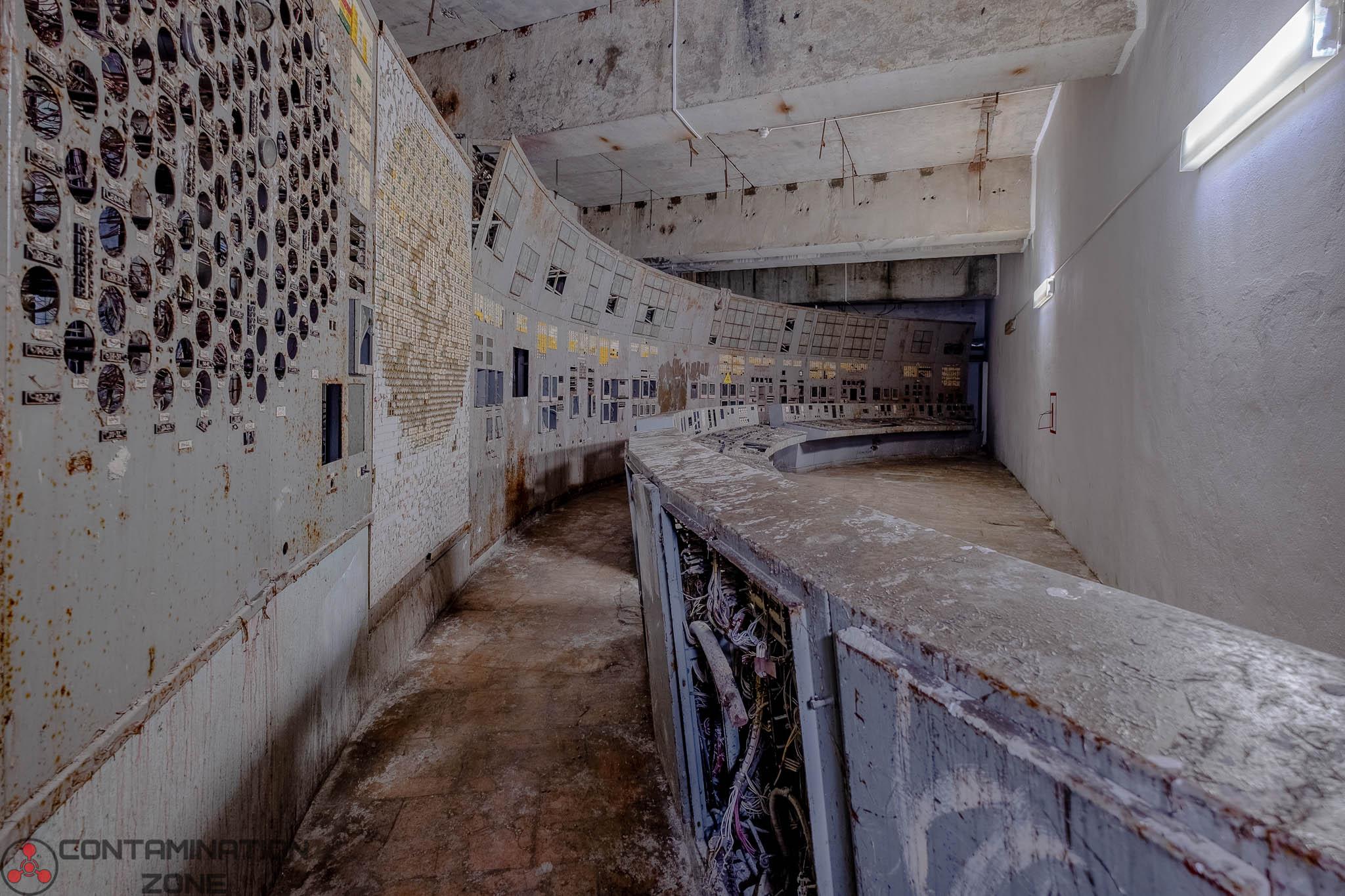 Control room of Chernobyl Reactor 4