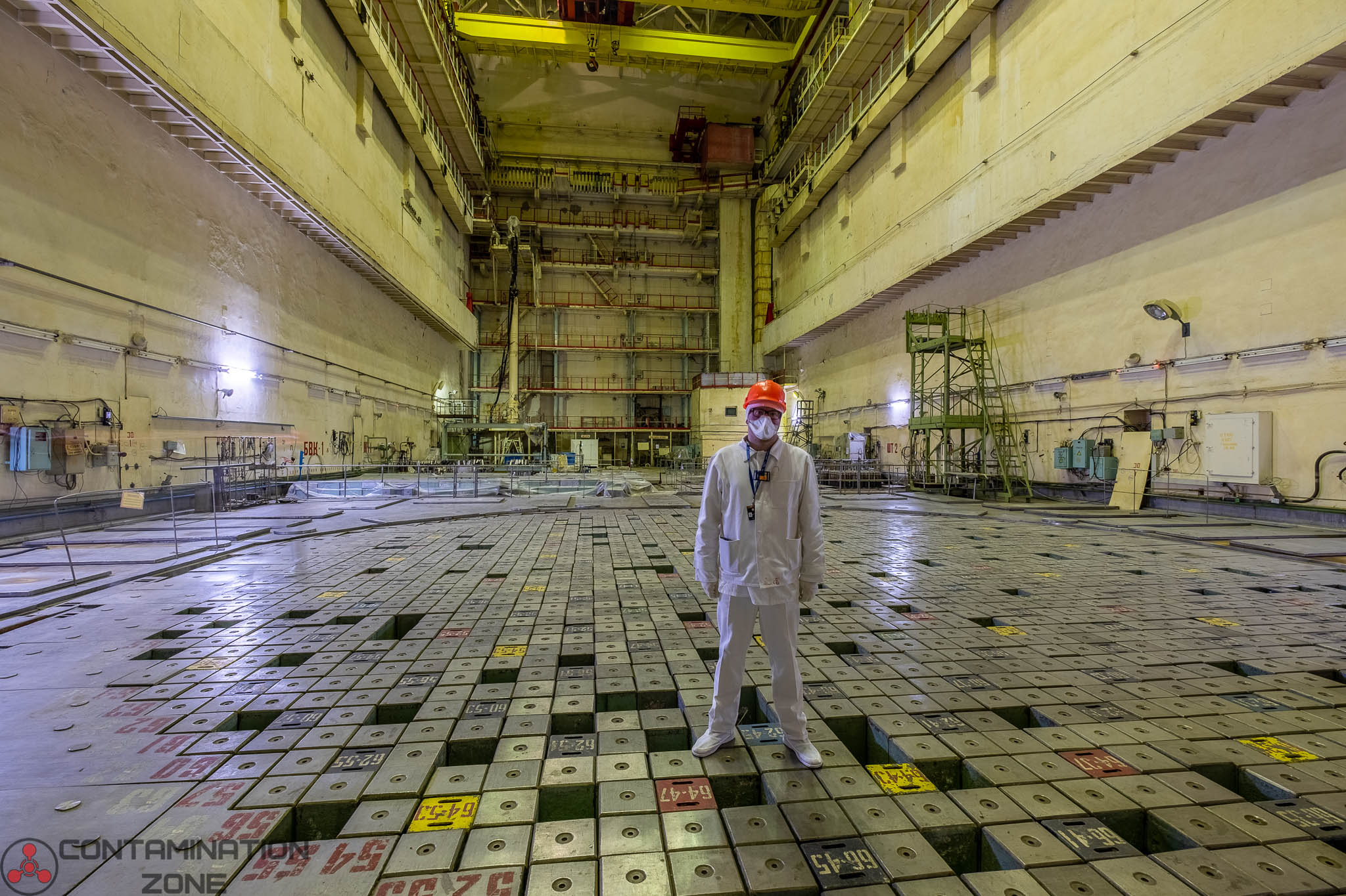 Reactor Hall 3 of Chernobyl plant. This unit was identical to unit 4 and operated until December 2000