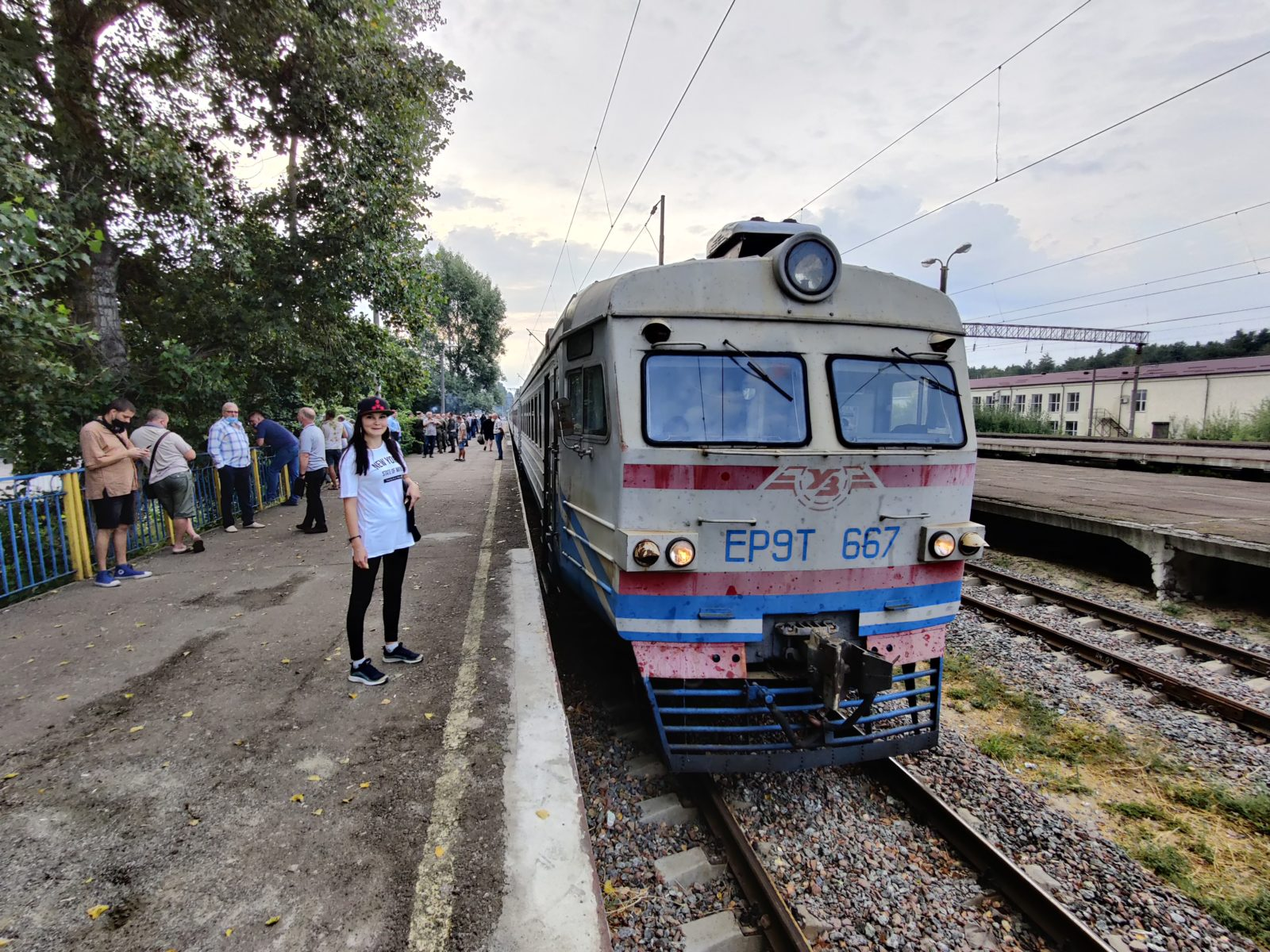Electric train from Slavutych to Chernobyl Nuclear Power Plant